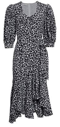 Michael Kors Asymmetric Silk Rumba Dress