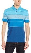 Calvin Klein Men's Liquid Cotton Short-Sleeve Engineered Stripe Polo Shirt