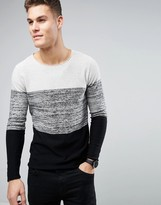 Produkt Knitted Jumper With Block Stripe