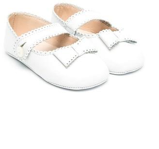 La Stupenderia Bow Detail Crib Shoes