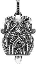 Thomas Sabo Elephant sterling silver and black zirconia pendant