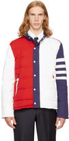 Thom Browne Tricolor Down Funnel Collar Four Bar Ski Jacket