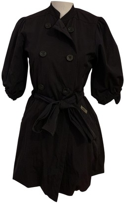DKNY Blue Trench Coat for Women