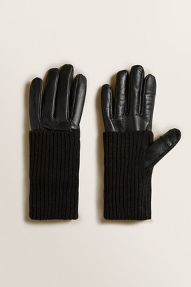 Seed Heritage Leather Knit Gloves