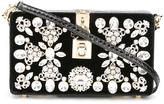 Dolce & Gabbana Dolce box clutch - women - Leather/Crystal/Velvet/metal - One Size