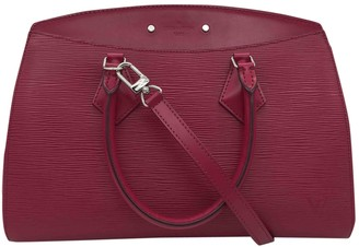 Louis Vuitton Soufflot Burgundy Leather Handbags