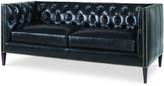 "Century Furniture Marian Leather Sofa, 78"""