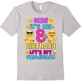 Birthday Girl TShirt For Age 8 It's My Birthday Emoji Fun