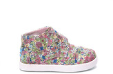 Toms Pink Canvas Ditsy Floral Tiny Paseo-Mid Sneakers