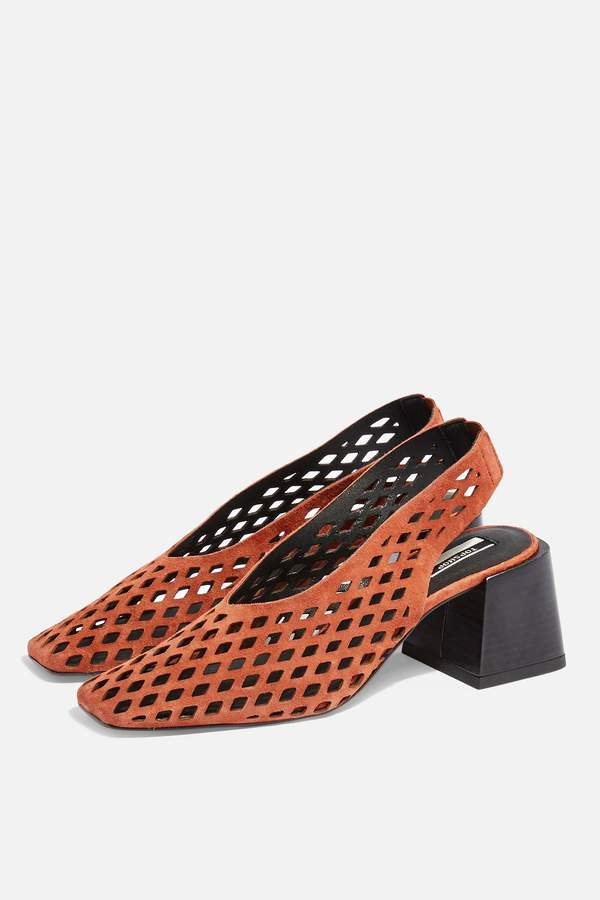 Topshop JUNE Rust Slingback Heels
