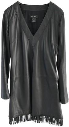 Jay Ahr Black Leather Dress for Women
