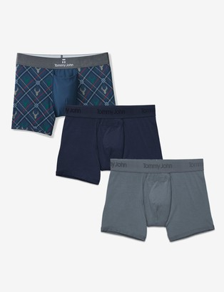 Tommy John Second Skin Trunk Dress Blues Holiday 3 Pack