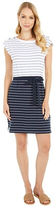Tommy Hilfiger Adaptive Millicent Striped Dress (Masters Navy/Bright White) Women's Dress