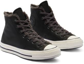 Converse Chuck Taylor(R) All Star(R) 70 High Top Sneaker with Faux Fur Trim