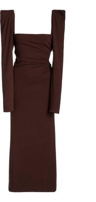 Johanna Ortiz Ember Of A New World Puffed-Sleeve Crepe Dress