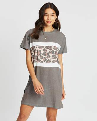 All About Eve Leopard Panel Tee Dress