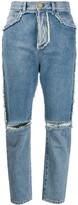 Balmain high-rise ripped jeans