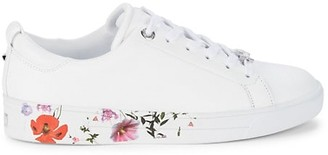 Ted Baker Roullyp Floral-Graphic Leather Sneakers