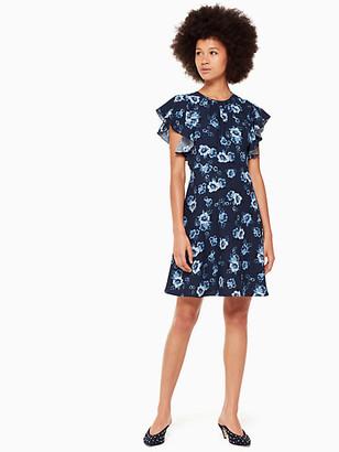 Kate Spade Prairie Rose Crepe Dress