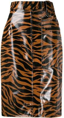 Kwaidan Editions Tiger Print High-Waisted Skirt