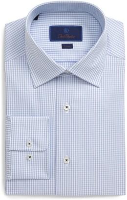 David Donahue Slim Fit Stripe Dress Shirt