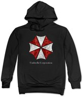 Amllon Men Resident Evil Umbrella Corporation Logo Hoodies Sweatshirts Pullover