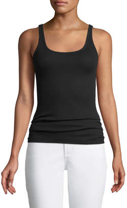 Vince Fitted Scoop-Neck Ribbed Favorite Tank