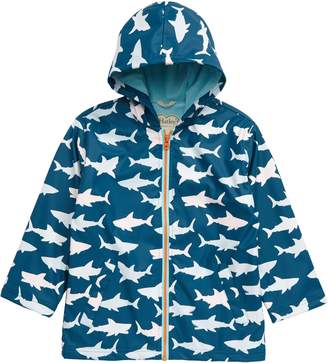 Hatley Sharks Color Changing Waterproof Hooded Raincoat