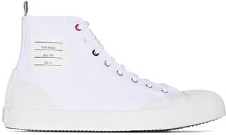 Thom Browne Vulcanised 4-Bar high-top sneakers