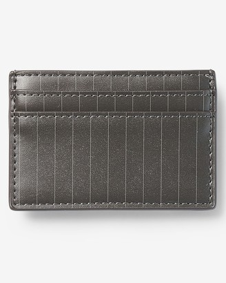 Express Slim Striped Vegan Leather Card Case
