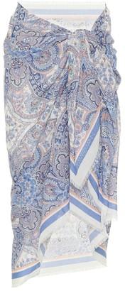 Zimmermann Exclusive to Mytheresa Sarong cotton skirt