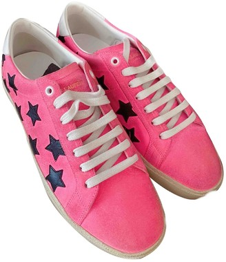 Saint Laurent Court Pink Suede Trainers