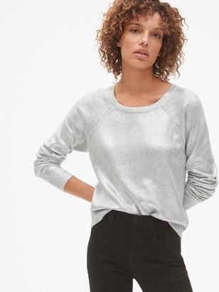 Gap Metallic Pullover Sweater