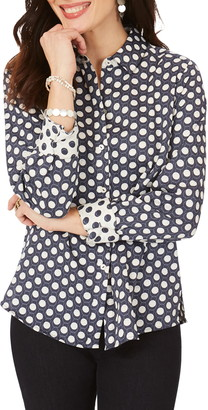 Foxcroft Ava Dots Non-Iron Shirt