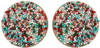Amrita Singh Women's Earrings Turq/Coral - Teal & Pink Beaded Stud Earrings
