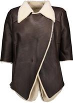Marni Asymmetric shearling jacket