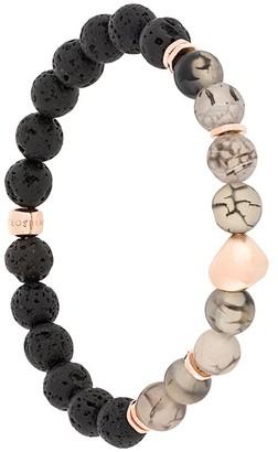 Tateossian Nugget beaded rose gold bracelet