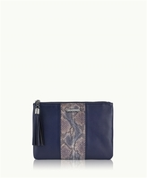 GiGi New York All in One Bag Blue-Multi Genuine Anaconda