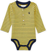 Ralph Lauren Striped Cotton Mesh Bodysuit