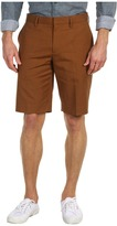 Vince Linen Blend Trouser Short (Rust) - Apparel