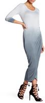 Young Fabulous & Broke Long Sleeve Side Slit Ombre Dress