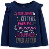 Carter Toddler Girls Slogan Graphic-Print T-Shirt