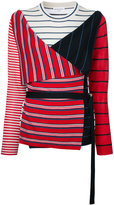 Sonia Rykiel striped top - women - Silk/Cashmere/Wool - S