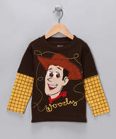 "Children's Apparel Network ""Brown & Yellow """"Woody"""" Layered Tee - Toddler"""