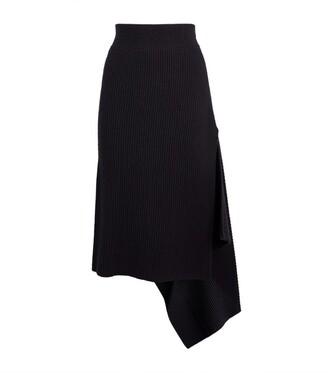 Monse Merino Wool Sliced Rib Skirt