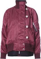 Sacai oversized bomber jacket - women - Cotton/Nylon/Polyester/Wool - 1