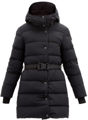 Burberry Eppingham Belted Down-filled Puffer Coat - Black