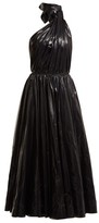 Calvin Klein 205w39nyc - Tie Neck Nylon A Line Dress - Womens - Black