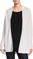 Eileen Fisher Link Shaped Open-Front Merino Wool Cardigan