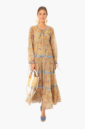 Warm Flower Power Colonial Dress